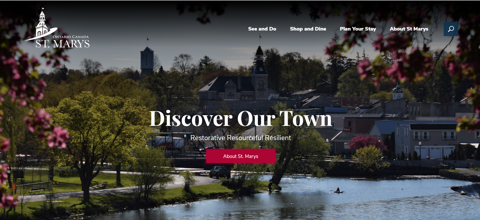 Home page of new tourism site